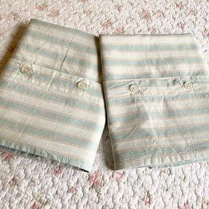 Tommy Bahama Blue Cream Stripe king Pillowcases